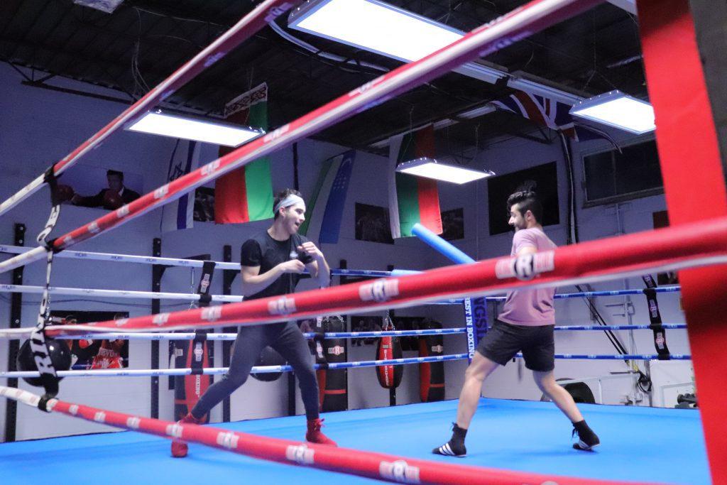 Boruch and Samir training