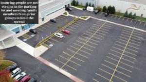 Parking lot during pandemic