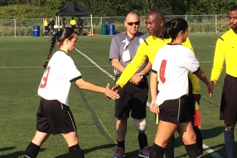 handshake with referee